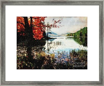 On Jordan Pond Framed Print by Lianne Schneider