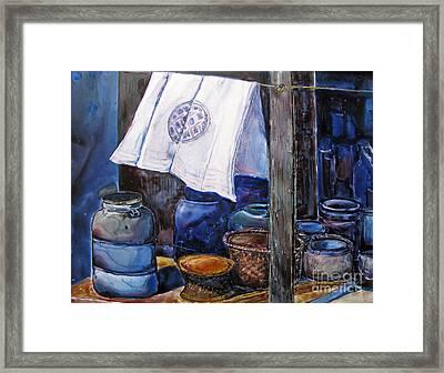 On Line Canvas Framed Print by Louise Peardon