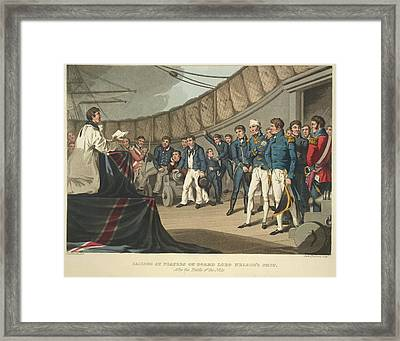 On Lord Nelson's Ship Framed Print