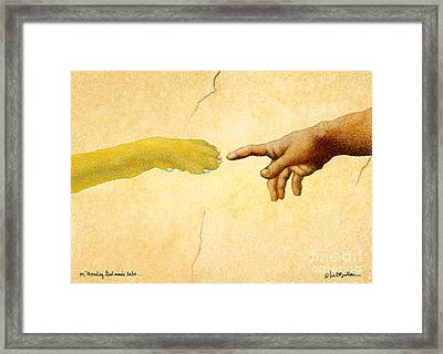 On Monday God Made Labs... Framed Print