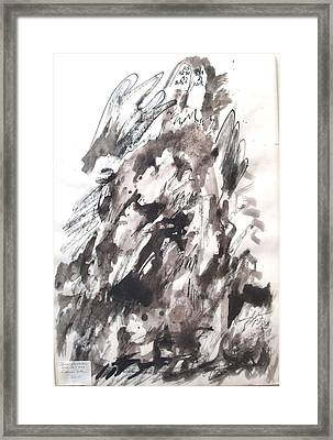 Framed Print featuring the painting On Mount Sinai by Esther Newman-Cohen