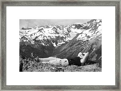 On Mountain Time... Framed Print