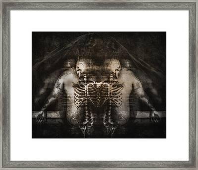 On My Back Framed Print