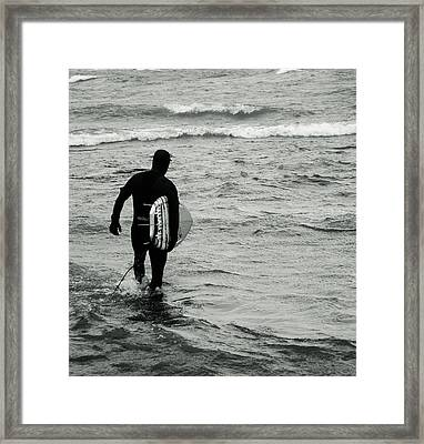 On My Way Framed Print