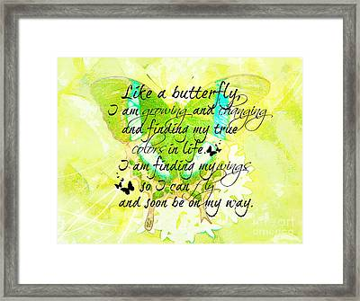 On My Way Framed Print by Tina  LeCour