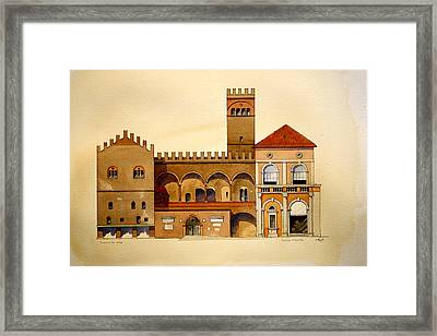 on Piazza Maggiore Framed Print