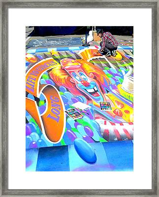On Pineapple Street Framed Print