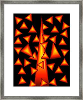 Framed Print featuring the digital art On Point by Gayle Price Thomas