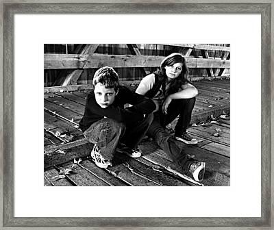 On Potter's Bridge Framed Print by Julie Dant