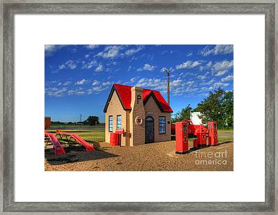 On Route 66 Framed Print by Mel Steinhauer