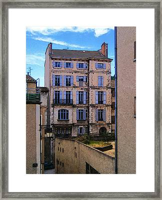 On Rue St. Claire - France Framed Print by David Blank