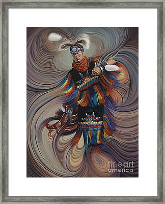On Sacred Ground Series II Framed Print by Ricardo Chavez-Mendez