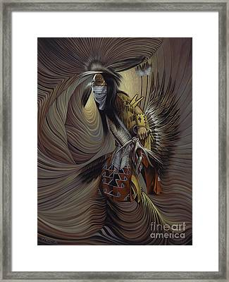 On Sacred Ground Series IIl Framed Print by Ricardo Chavez-Mendez