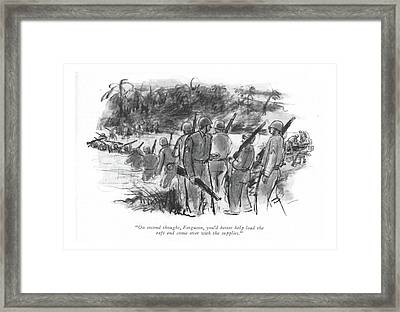 On Second Thought Framed Print