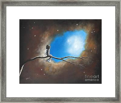 On Silent Wings By Shawna Erback Framed Print by Shawna Erback