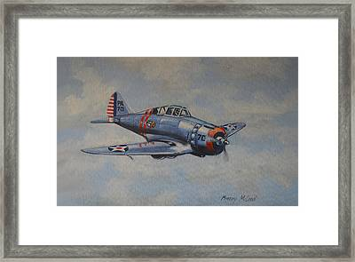 Framed Print featuring the painting On Silver Wings by Murray McLeod