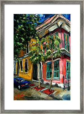 On St. Charles Framed Print by Carole Foret