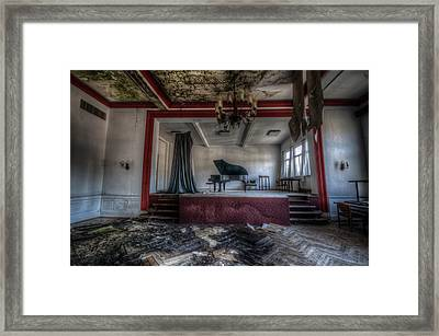 On Stage Framed Print by Nathan Wright