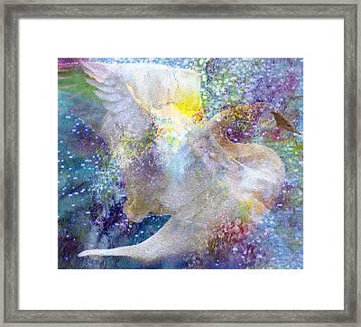 On Swan's Wings Framed Print