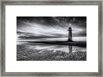 On Talacre Beach Framed Print