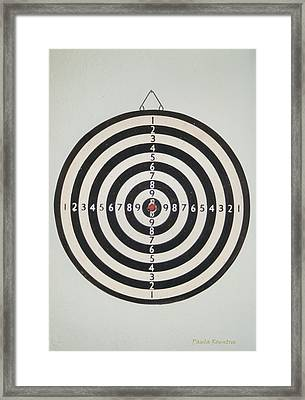 On Target Framed Print by Paula Rountree Bischoff
