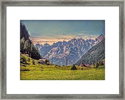 On The Alp Framed Print