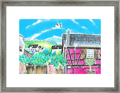 On The Alsace Wine Route Framed Print by Hisayo Ohta