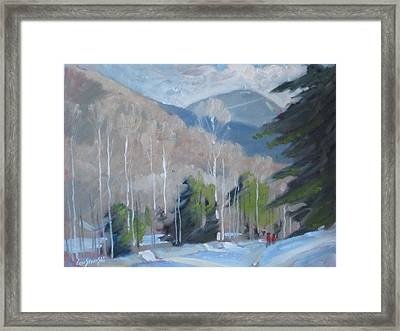 Framed Print featuring the painting On The Ashuwillticook Rail Trail by Len Stomski