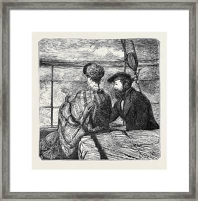 On The Atlantic Steamer Moonshine Framed Print by English School