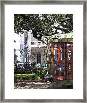 On The Avenue - Painted Framed Print