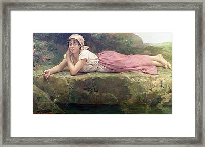 On The Banks Of The River Framed Print by Jacqueline