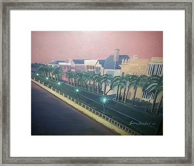 On The Battery Framed Print