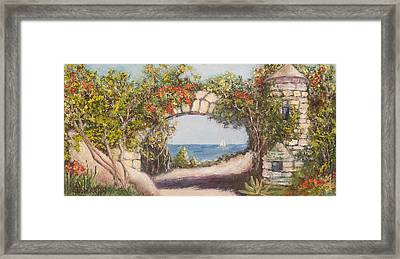 On The Bay Framed Print by Annie St Martin