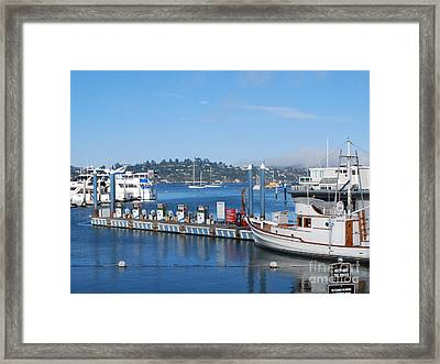 Framed Print featuring the photograph On The Bay by William Wyckoff