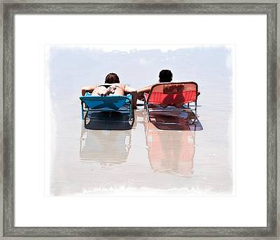 On The Beach 12 Framed Print by Michael Schwartzberg