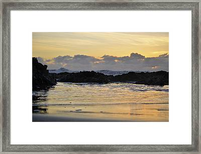 On The Beach Framed Print by Alex King