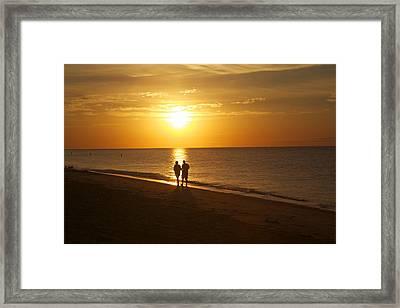 On The Beach Framed Print by Allan Morrison