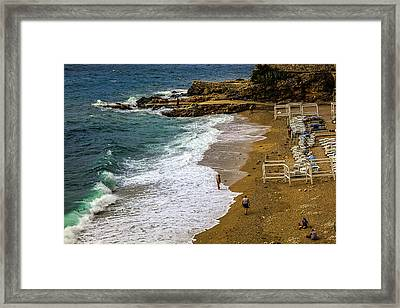 On The Beach - Dubrovnic Framed Print by Madeline Ellis