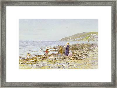 On The Beach Framed Print by Helen Allingham