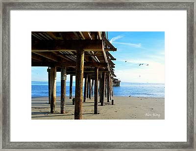 On The Beach In Capitola Framed Print by Alex King