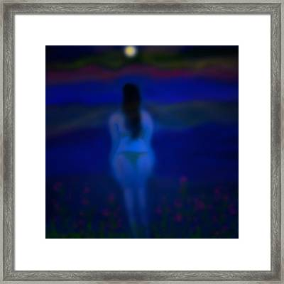 On The Beach Framed Print by Latha Gokuldas Panicker