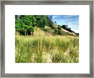 On The Beach Framed Print by Michelle Calkins