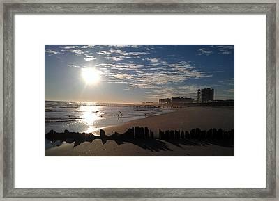On The Beach Framed Print by Rita Tortorelli
