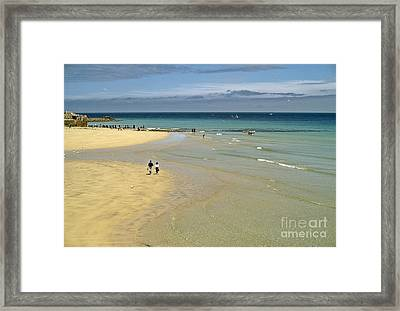 On The Beach St Ives Framed Print by David Davies