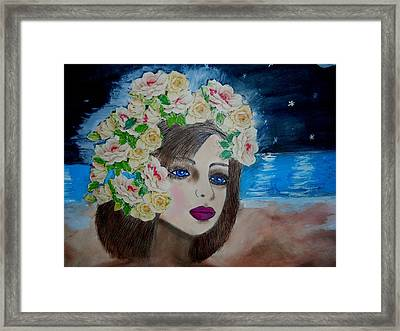 On The Beach Framed Print by Suzanne Thomas