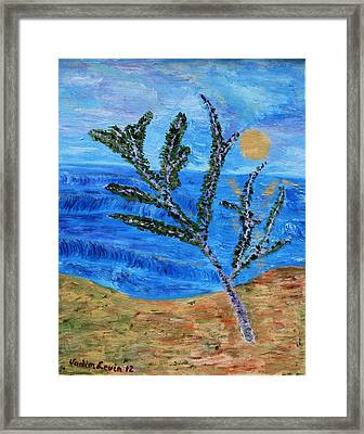 On The Beach Framed Print by Vadim Levin