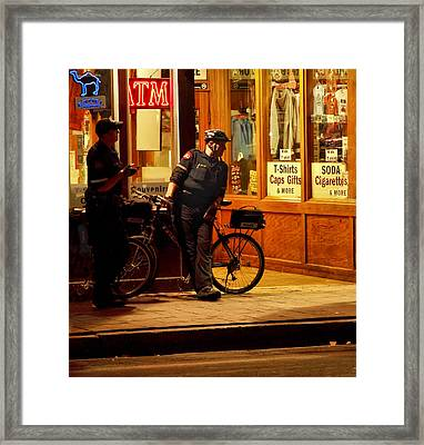 On The Beat Framed Print by Linda Unger