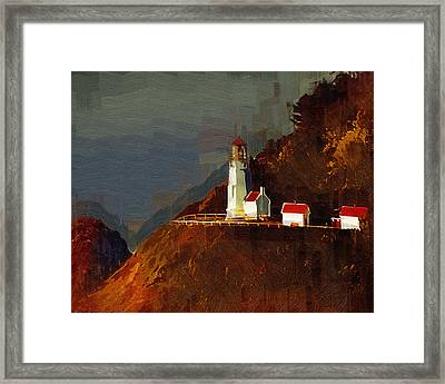 On The Bluff Framed Print