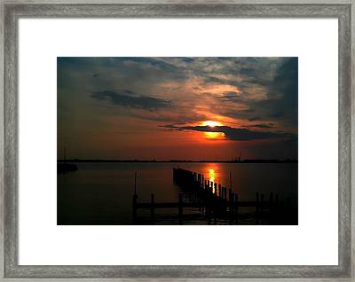 On The Boardwalk Framed Print by Debra Forand