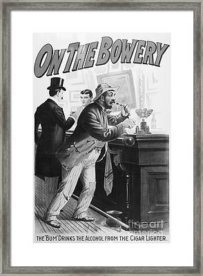 On The Bowery, 1894 Framed Print